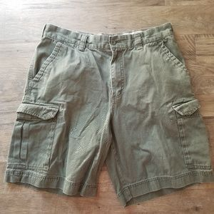 Mens Merona Size 36 Green Cargo Shorts